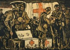 RED CROSS. IN THE FIELD British WW1 Propaganda Poster