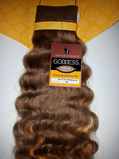 "100% FRENCH REMI HUMAN HAIR WEAVE; CURLY; GODDESS REMI;14"" # 30;SENSATIONNEL"