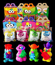 McDonalds Jim Hensons Muppets Workshop Complete Set 4 Toys + Happy Meal Boxes