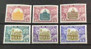 PARAGUAY # 822-827. POPES PAUL VI & JOHN XXIII - NATIONAL HOLIDAY.  MNH