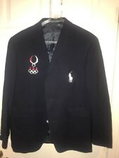 POLO RALPH LAUREN 2008 OLYMPIC GAMES OFFICIAL  NAVY WOOL BLAZER USA NEW 40S