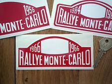 MONTE CARLO RALLY Rallye 6 inch 1955-1986 car stickers