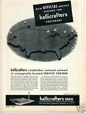 1946 Hallicrafters Radio Equipment Service Centers Print Ad