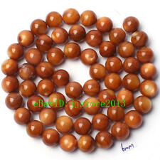 6mm Pretty Natural Brown Shell MOP Round Shape Gemstone Loose Beads Strand 15""
