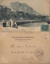 Tarjeta Postal. Alicante. Nº 1030. Castillo y Paseo de la Explanada.