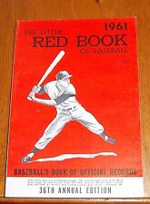 The Little Red Book of Baseball 1961  Baseball's Book of Official Records