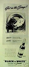 1942 Scottish Terrier Westie Dogs BLack~White Scotch Whisky~Get in The Sorap Ad