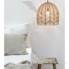 Stunning Large Natural  Pendant Hanging Light Shade With Electrical Fittings