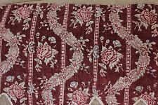 """Antique French HandBlocked & Resist 18thC Wide Quilted Valance~13 1/2""""L X 73""""W"""