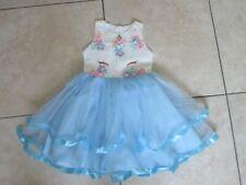 GIRLS DRESS AGE 5-6-7 Unicorn EASTER SKATER GIRL Disney Princess party sundress