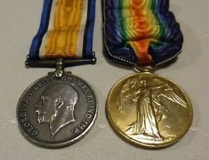 ORIGINAL AIF WW1 AUSTRALIAN WAR & VICTORY MEDALS 1st BATTALION AIF Regt. #2784