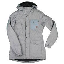 New 2016 Volcom Womens Bridge Insulated Snowboard Jacket Large Heather Grey