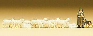 Preiser 79160 Schäferei Schafe Hund Schäfer Figuren Spur N handbemalt, Neu