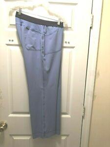 CHEROKEE INFINITY SIZE L/PETITE CIEL BLUE WOMEN'S RIB SCRUB PANTS