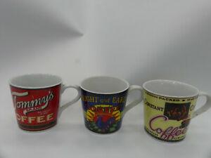 (ref288MG1)  3 Coffee advertising mugs retro adverts