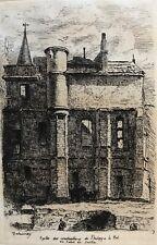 Paris Palais de Justice Construction Philippe le Bel par Delauney en 1862 France