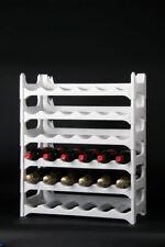 Flaschenregal Weinregal 6 teilig für 36 Flaschen granit weiß Stecksystem