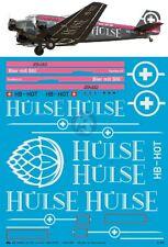 Peddinghaus 1/48 Junkers Ju 52/3mg4e Markings Ju-Air HB-HOT Hulse Bier 3569