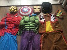 Boys Superhero Fancy Dress Up Costume Bundle Accessories Age 5-6 Years