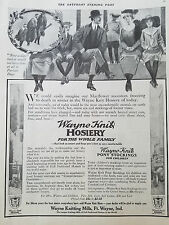 1912 Wayne Knitting Mills Knit Hosiery Men Women Fashion Clothing Original Ad