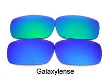Galaxy Replacement Lenses For Oakley Square Whisker Sunglasses Blue/Green