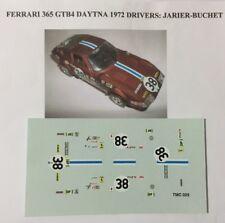 FERRARI 365 GTB4 DAYTONA 24h LE MANS 72 N.38 Jarier-Buchet 1/43 DECALS