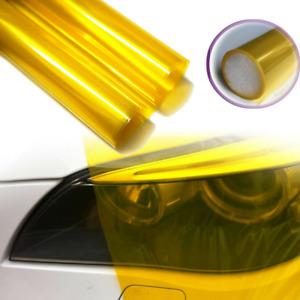 Golden Yellow Car Headlight Tint Film Taillight Color-Changing Vinyl Sticker