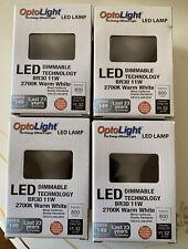 Set Of 4 Pcs OptoLight Led Lamp 800 Lumens 2700K Warm White Br30 11W!