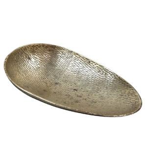 Vintage Solid Brass Etched Scoop Trinket Bowl Sarna India