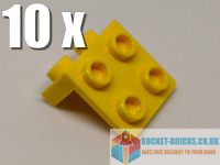 ⭐️10 x BRAND NEW LEGO 44728 BRACKET 1 x 2 - 2 x 2 - YELLOW - 4277925⭐️