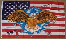 Flag 3x5 Patriotic United States Flag and Eagle NEW Banner 2 grommets