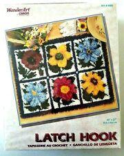 WonderArt Wild Flowers Latch Hook Kit 4383 floral Nib sealed Wonder Art 20 x 27