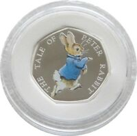 2017 Beatrix Potter Peter Rabbit 50p Fifty Pence Silver Proof Coin Box Coa