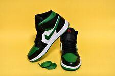Nike Air Jordan 1 Mid Pine Green Toe 2019 Black Red Mens 554724 067 10 US