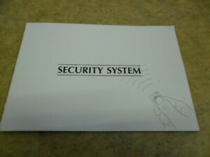 JAGUAR XJS FACELIFT /XJ6 SECURITY SYSTEM OWNERS HANDBOOK JJM10 22 99/32