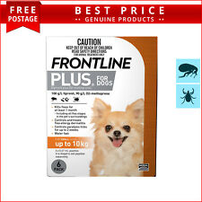 Frontline Plus for Dogs 6 Doses Up to 10 Kg ORANGE Pack by Merial