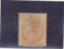 FRANCOBOLLI  MALTA  1863 1/2 P.  REGINA VITTORIA ECCEZIONALE