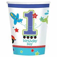All Aboard Boy Train Car Truck Cute Kids 1st Birthday Party 9 oz. Paper Cups