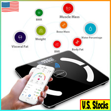 Bluetooth Bathroom Scales Weight Smart Body Fat Electronic BMI Digital Fitness