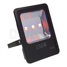 150W COB Outdoor LED Flood Light RGB IP65 Black Waterproof
