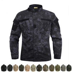 US Army Military Mens Jackets Camo Tactical Combat Uniform Shirts Coats Camping