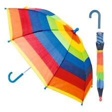 Drizzles Kids Children Rainbow Striped Plastic Outdoor Umbrella