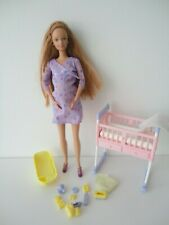 Mattel Barbie HAPPY FAMILY pop / Poupée / Doll - Pregnant Midge - VGC