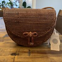NWT Hand Crafted in Vietnam Rattan Crossbody Shoulder Bag