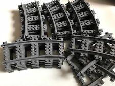 20 Lego Tren Rastrear Piezas - 4279717 Riel Curvado 22 1/2 grados.