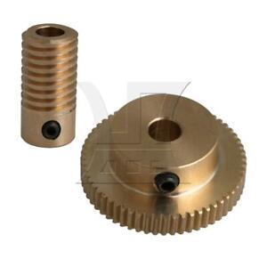 1:60 0.5-mode 60Teeth Brass Worm Gear Shaft Reducer 5mm Weight 53g