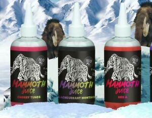 Mammoth Juice E Liquid Vape 500ml 70vg 30pg 0mg 10 Flavours Special Offer Price!