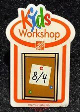 LMH PINBACK Pin Button  BULLETIN BOARD CORK  Home Depot Kids 2012 Workshops