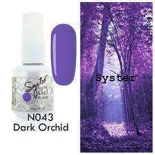 SYSTER 15ml Nail Art Soak Off Color UV Lamp Gel Polish N043 - Dark Orchid