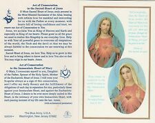 CATHOLIC HOLY CARD   ACT OF CONSECRATION TO THE SACRED HEART OF JESUS